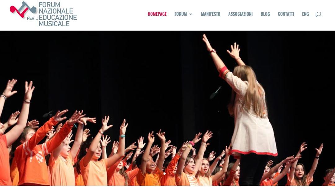 10 anni di Forum Nazionale per l'Educazione musicale. Un nuovo sito web e un manifesto