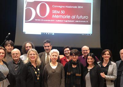 """SIEM - Convegno nazionale """"SIEM 50. Memorie al futuro"""" - Treviso, 30 novembre 2019"""