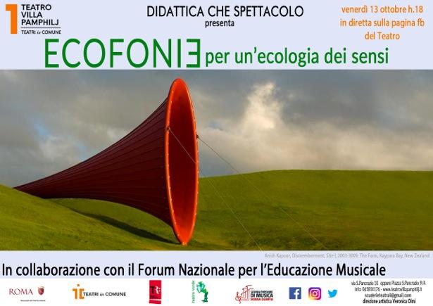 """Ecofonie a """"Didattica che spettacolo"""": webinar sul rapporto uomo, suono, ambiente"""