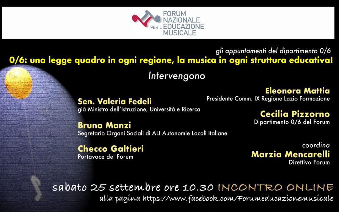 Sistema Integrato 0/6: la musica in ogni struttura educativa